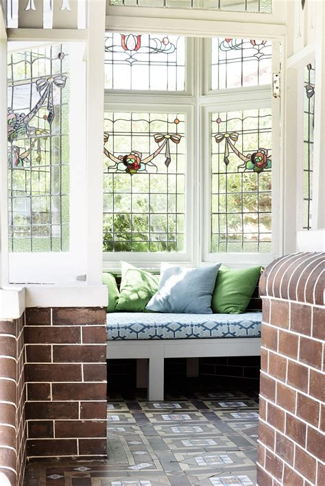 beautiful house  stained glass windows  australia