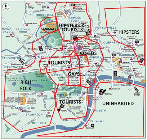 london sections map london districts