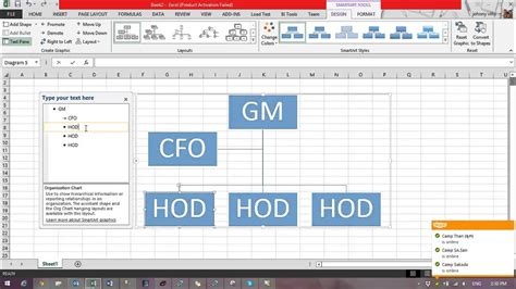 create flowchart in excel how to create flow chart in excel 2013 using smartart function