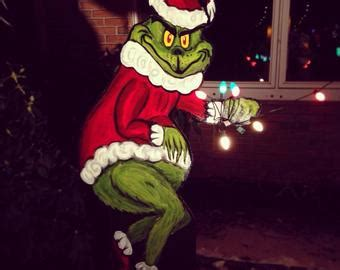 grinch pulling down lights items similar to the grinch lou max the lawn decoration on etsy