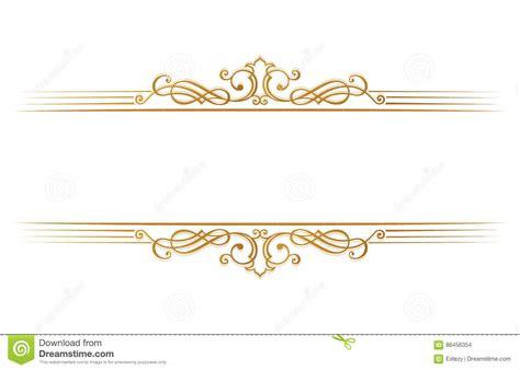 template place cards gold border calligraphic restaurant menu vintage ornament vector book