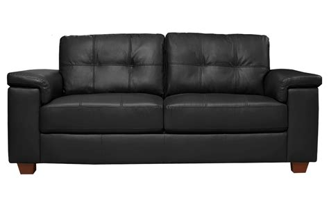 Black Leather 3 Seater Sofa by Sale Ravello Large 3 Seater Black Leather Sofa Sofas