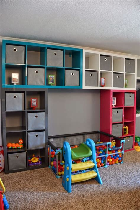 Ikea playroom diy ball pit also shows a neat idea for a train lego