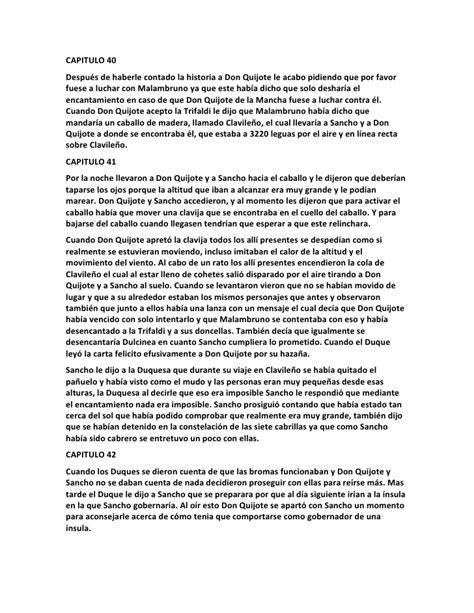 resumen del libro don quijote dela mancha por capitulos pdf resumen por cap 237 tulo del quijote de la mancha