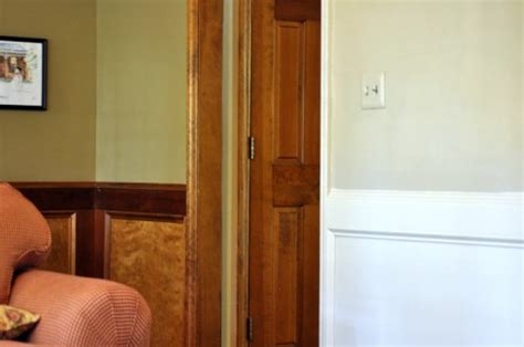 Stained Wainscoting by Painting Stained Wainscoting Molding And Doors All