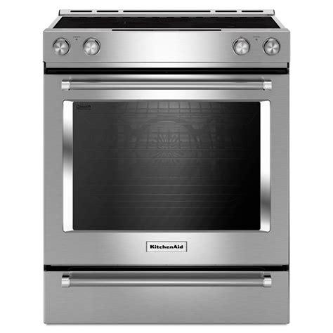 Sears Kitchen Aid kitchenaid kseg700ess 6 4 cu ft 5 element electric slide in convection range stainless steel