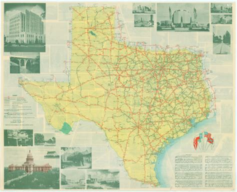 texas official travel map texas highway department in depression and war page 3 tslac