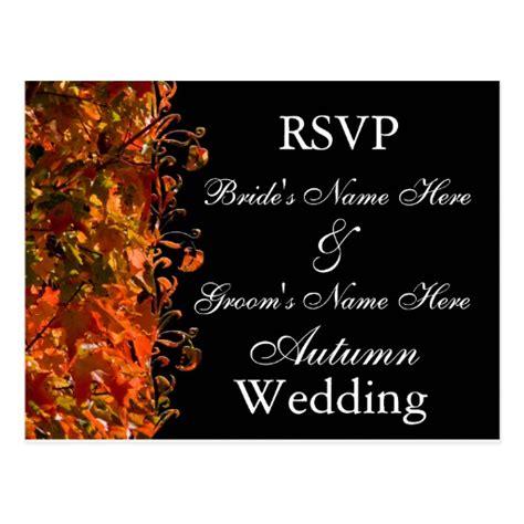 Fall Wedding Invitation Template Autumn Wedding Postcard Zazzle Fall Invitation Templates Free