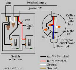 Ceiling Fan Switch Wiring Diagram Ceiling Fan Switch Wiring Electrical 101