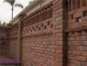 Brick patio screen wall craftsman exterior san diego by