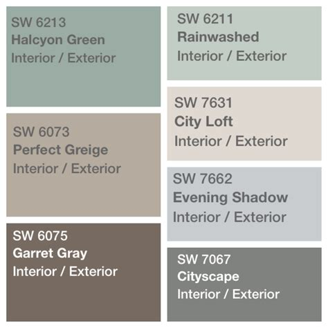 palette decided for house paint sherwin williams greige color schemes and decor