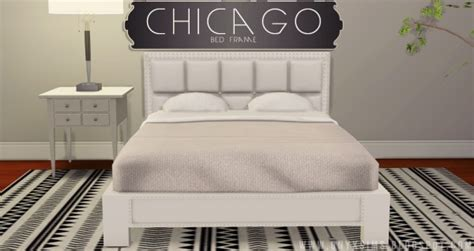 onyx sims chicago bed frame sims  downloads