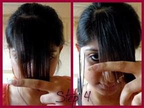 how to cut s hair step by step how to cut side swept bangs at home do it yourself