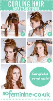 how to roll hair for curl perm how to curl hair with straighteners sofeminine