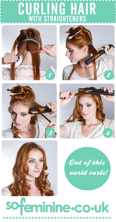 runglette curls step by step create curls with a hair straightener hairstyles easy