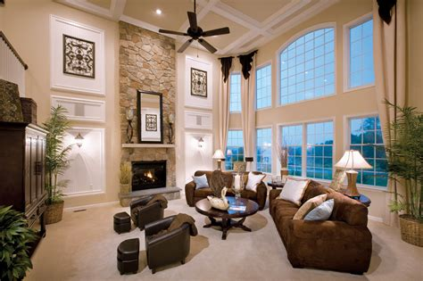 two story living room weatherstone of avon the elkton home design