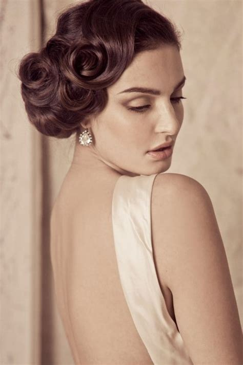 hair stayl with two choti vintage wedding hairstyle great gatsby inspired wedding