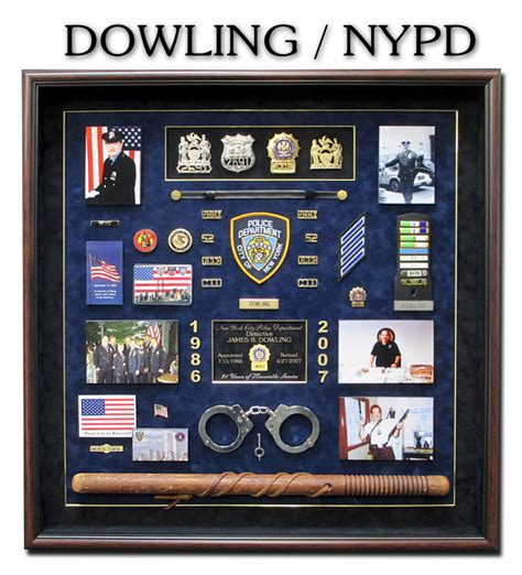 nypd pension section badge frame custom career shadowboxes for police