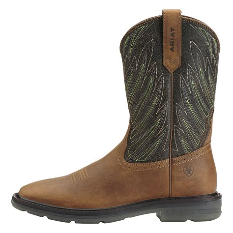 ariat work boots ariat maverick slip resistant wellington work boot 10014228