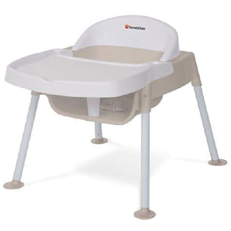 foundations secure sitter feeding chair white