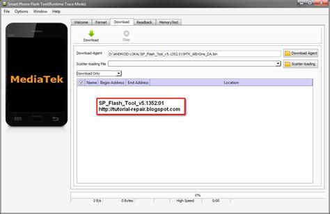 tutorial flash tool android mtk android flasher update sp flash tool v5 1352 01