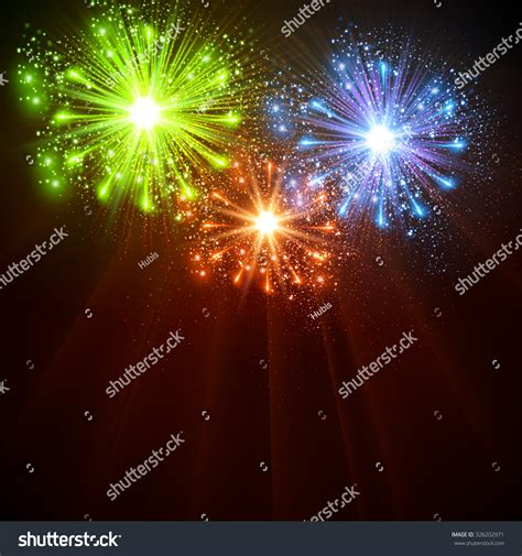 happy new year 2016 celebration background stock vector