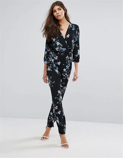 asos patterned jumpsuit lipsy lipsy floral printed jumpsuit