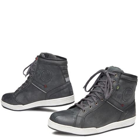 yorker shoes sweep new yorker waterproof shoes grey motorbike