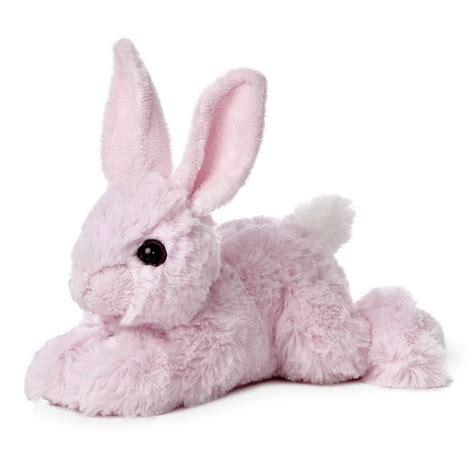8 quot aurora plush pink rabbit easter bunny mini flopsie