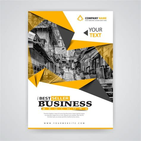 Origami Company - yellow origami business template vector free