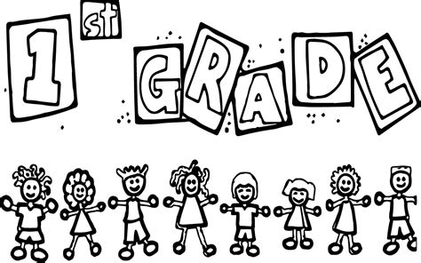 1st Grade Children School Coloring Page Wecoloringpage Coloring Pages For 1st Graders