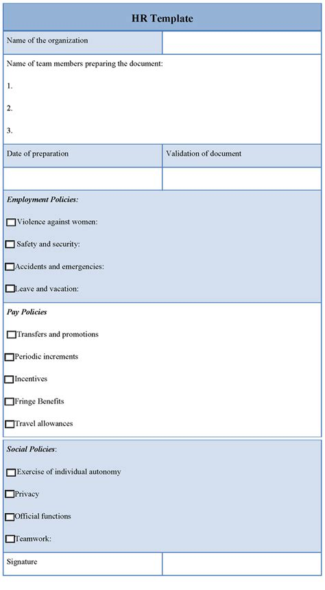 hr forms templates free hr template sle template of free hr sle