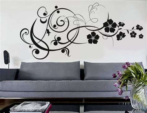 modern vinyl wall decals uber decals vinyl wall decal sticker modern floral 7 371