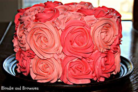 Rose Cake ? Blondie and Brownies