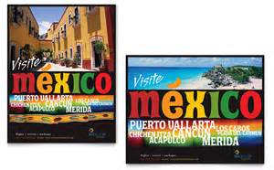 Travel Agency Poster Template by Mexico Travel Poster Template Design