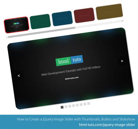 Jquery Image Slider With Thumbnails Tutorial
