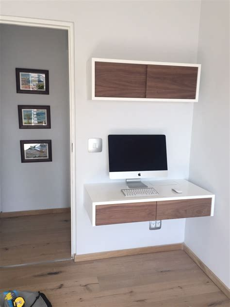 white sliding door desk ode home office with floating desk and floating box with