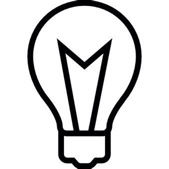 lightbulb interface symbol icons free