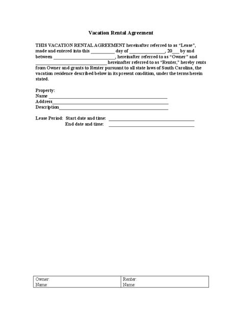 Vacation Rental Agreement 6 Free Templates In Pdf Word Excel Download Condo Rental Lease Template