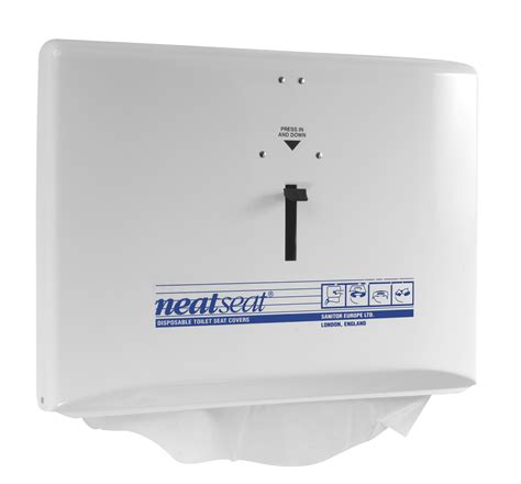 wc seat cover dispenser white neat seat steiner