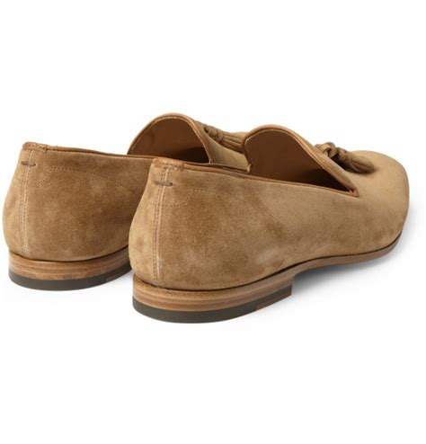 light brown loafers mcqueen light brown suede tassel loafers suitored