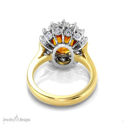 Handmade Ring Designs - handmade golden sapphire ring jewelry designs
