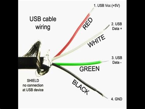 which four cable wire colors are positive within a micro