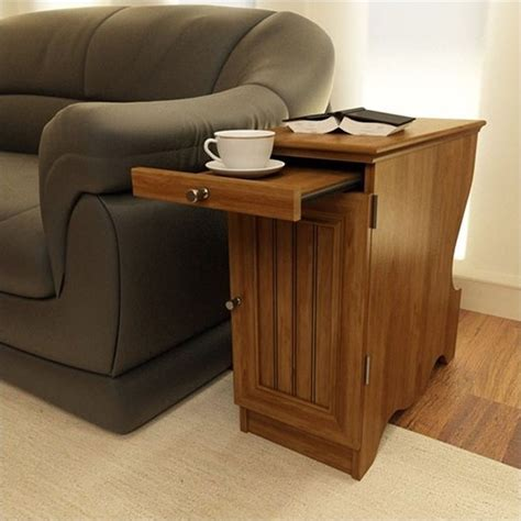 end tables with storage wood storage chairside end table in brown 3576301pcom