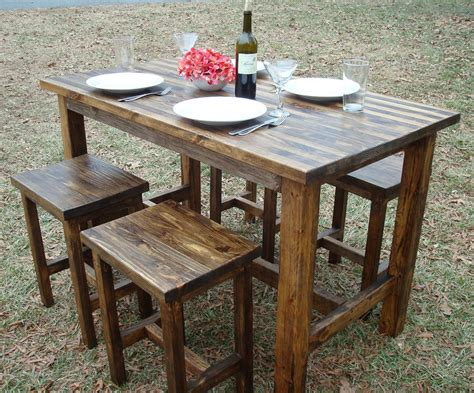 Wood Bar Table And Stools | bar table and stools pub table wood bar by blueridgewoodworking