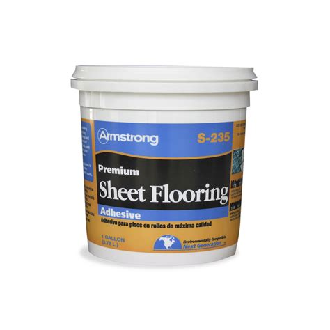 shop armstrong gallon trowel sheet vinyl adhesive at lowes com