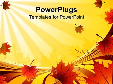 fall powerpoint template autumn leaves powerpoint template