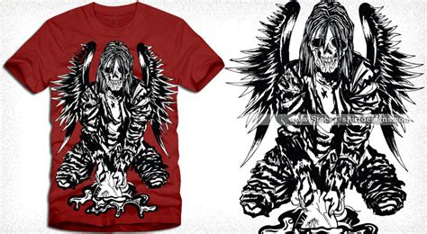 Kaos Amazing Graphic 10 wings vector t shirt designs t shirt design