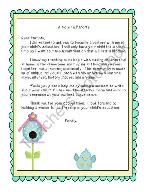 1000 ideas about preschool welcome letter on