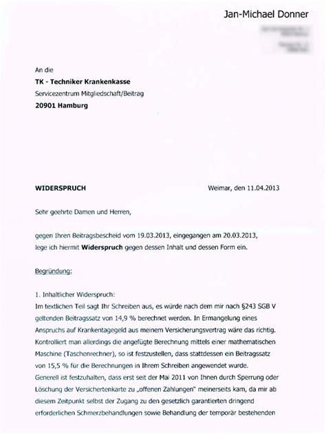 Wie Schreibt Brief Beispiel Jan Donner Wortreich Krankekassen Tkk